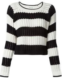 Jersey de ochos de rayas horizontales en blanco y negro de Elizabeth and James