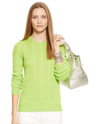 Jersey de ochos en amarillo verdoso