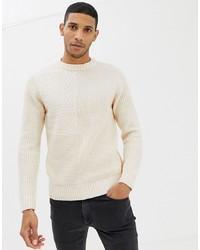 Jersey de ochos en beige de Burton Menswear