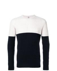 Jersey de ochos en blanco y azul marino