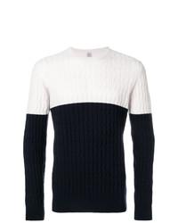 Jersey de ochos en blanco y azul marino de Eleventy