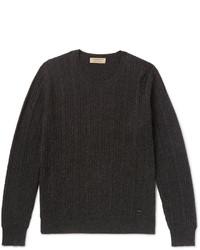 Jersey de ochos en gris oscuro de Burberry