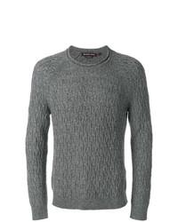 Jersey de ochos en gris oscuro de Michael Kors Collection