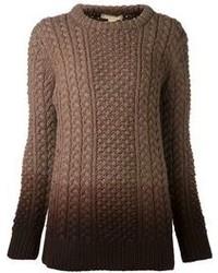 Jersey de ochos en marrón oscuro