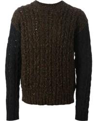 Jersey de ochos en marrón oscuro de Diesel