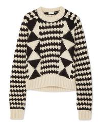 Jersey de ochos en negro y blanco de Saint Laurent