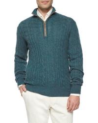 Jersey de ochos en verde azulado