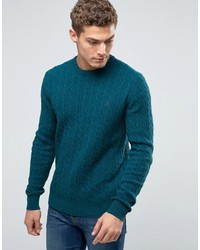 Jersey de ochos en verde azulado de Jack Wills