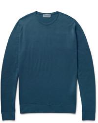 Jersey de ochos en verde azulado de John Smedley