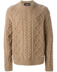 Jersey de ochos marrón claro de DSQUARED2