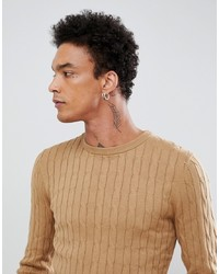 Jersey de ochos marrón claro de Gianni Feraud