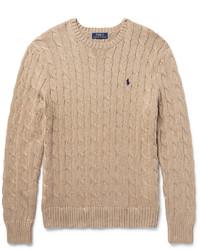 Jersey de ochos marrón claro de Polo Ralph Lauren