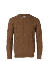 Jersey de ochos marrón de Corneliani