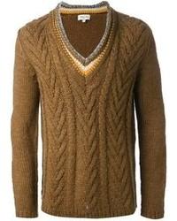 Jersey de ochos marrón de Paul & Joe