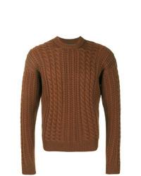 Jersey de ochos marrón de Prada