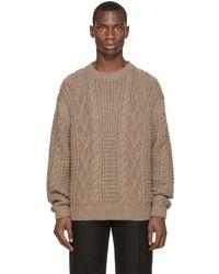Jersey de ochos marrón de Versace