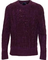 Jersey de ochos morado oscuro de Lanvin