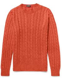 Jersey de ochos naranja de Incotex