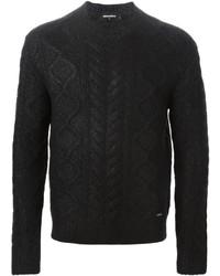 Jersey de ochos negro de DSQUARED2