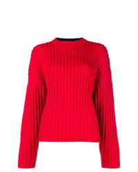 Jersey de ochos rojo de Jil Sander Navy