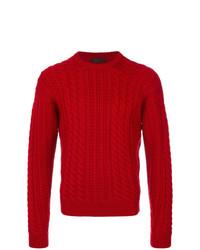Jersey de ochos rojo de Prada