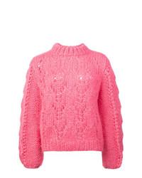 Jersey de ochos rosa de Ganni