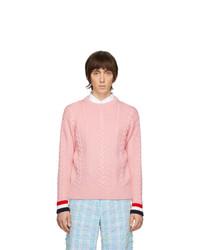 Jersey de ochos rosado de Thom Browne