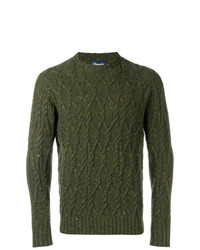 Jersey de ochos verde oliva de Drumohr