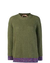 Jersey de ochos verde oliva de N°21