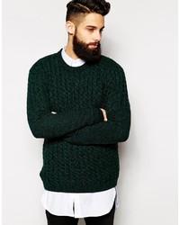 Jersey de ochos verde oscuro de Asos
