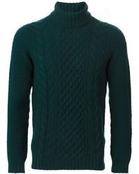 Jersey de ochos verde oscuro de Drumohr