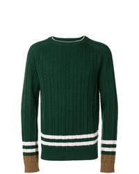 Jersey de ochos verde oscuro de Lanvin