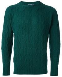 Jersey de ochos verde de Drumohr