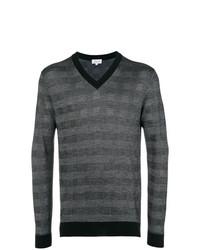 Jersey de pico a cuadros en gris oscuro de Brioni