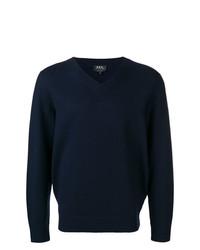 Jersey de pico azul marino de A.P.C.
