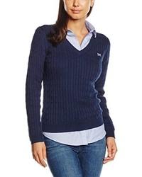 Jersey de pico azul marino de Crew Clothing