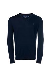 Jersey de pico azul marino de Polo Ralph Lauren