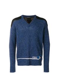 Jersey de pico azul marino de Prada
