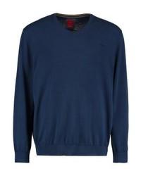 Jersey de pico azul marino de s.Oliver