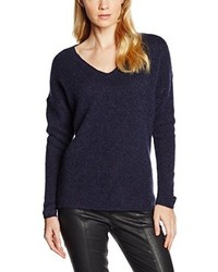 Jersey de pico azul marino de Selected Femme
