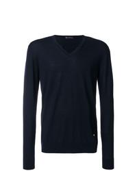 Jersey de pico azul marino de Versace