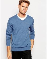 Jersey de pico azul de Esprit