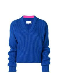 Jersey de pico azul de Maison Margiela