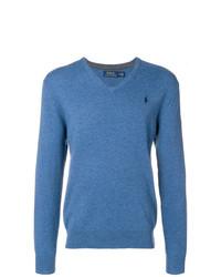 Jersey de pico azul de Polo Ralph Lauren
