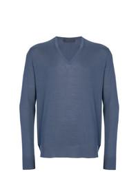Jersey de pico azul de Prada