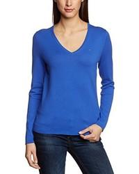 Jersey de pico azul de Tommy Hilfiger