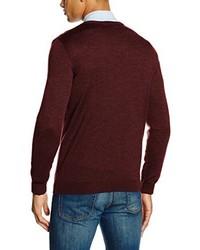 Jersey de pico burdeos de Paul James Knitwear