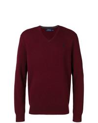 Jersey de pico burdeos de Polo Ralph Lauren