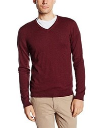 Jersey de pico burdeos de Selected Homme