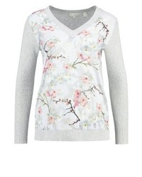 Jersey de pico con print de flores gris de Ted Baker